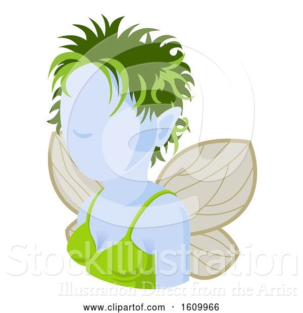 Vector Illustration of Fairy Avatar People Icon