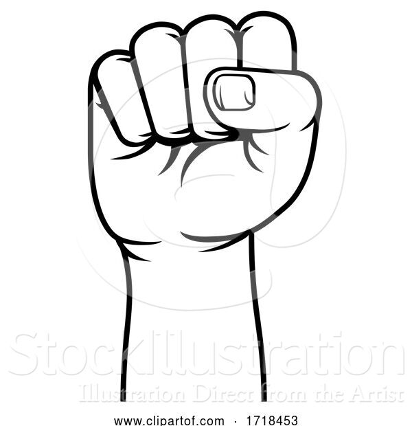 Vector Illustration of Fist Propaganda Protest Revolution Hand Raised up