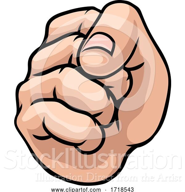Vector Illustration of Fist Punch Hand