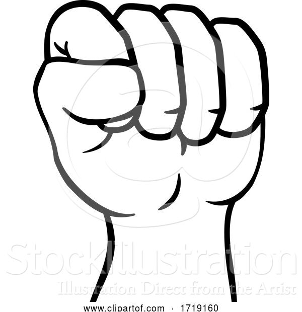 Vector Illustration of Fist up Hand Punch Icon