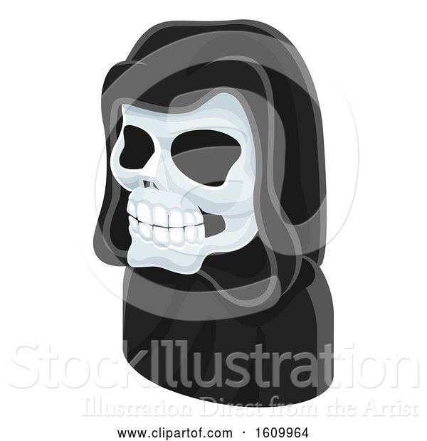 Vector Illustration of Grim Reaper Avatar People Icon