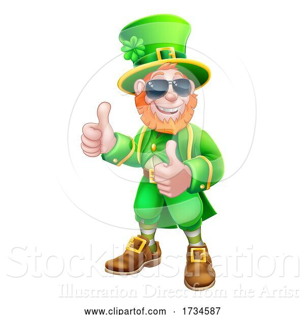 Vector Illustration of Leprechaun St Patricks Day Character