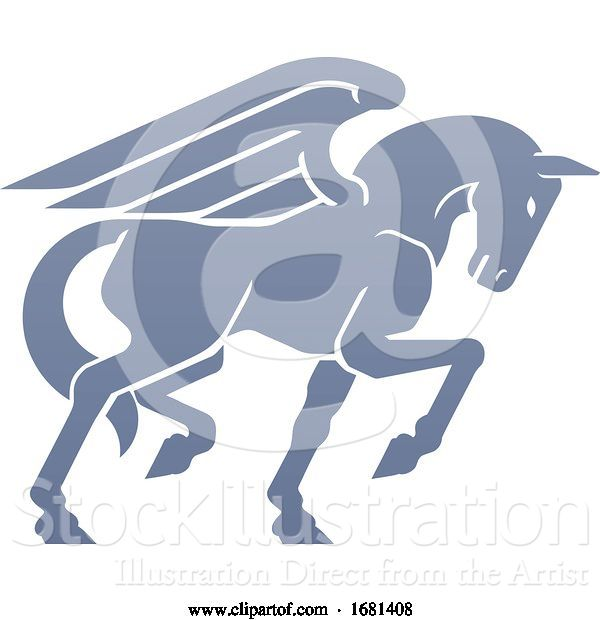 Vector Illustration of Pegasus Winged Horse Concept