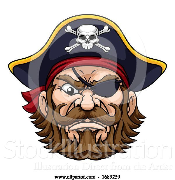 Vector Illustration of Pirate Captain Character Mascot