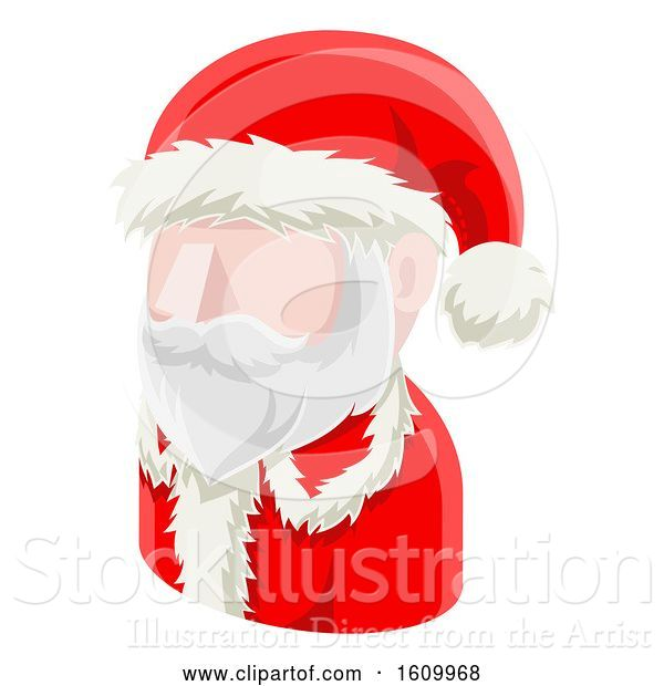 Vector Illustration of Santa Claus Avatar People Icon