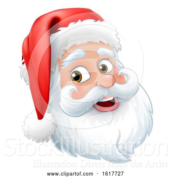 Vector Illustration of Santa Claus Father Christmas Character