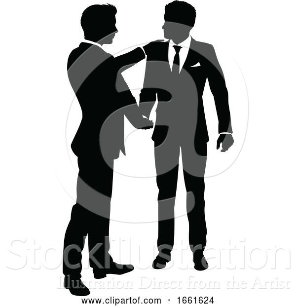Vector Illustration of Silhouette Business People