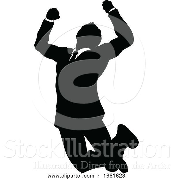 Vector Illustration of Silhouette Business Person