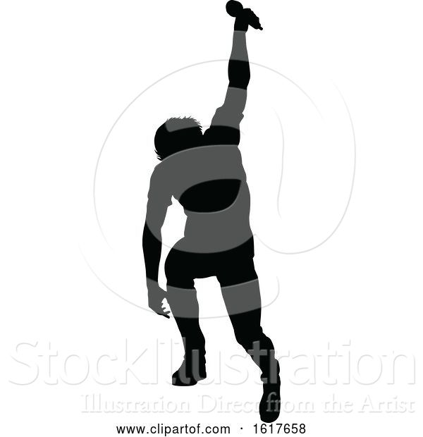 Vector Illustration of Singers Pop Country Rock Hiphop Star Silhouette
