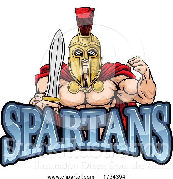 Vector Illustration of Spartan Trojan Sports Mascot