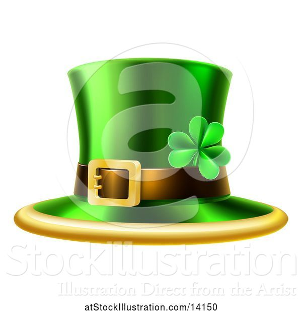 Vector Illustration of St Patricks Day Leprechaun Hat