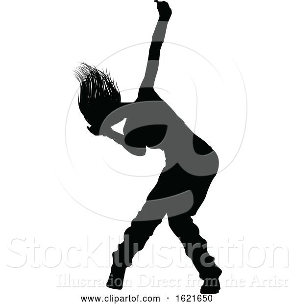 Vector Illustration of Street Dance Dancer Silhouette