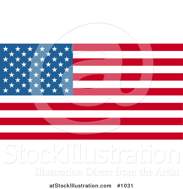 Vector Illustration of the American Flag