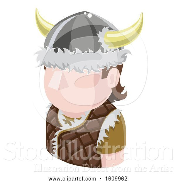 Vector Illustration of Viking Avatar People Icon