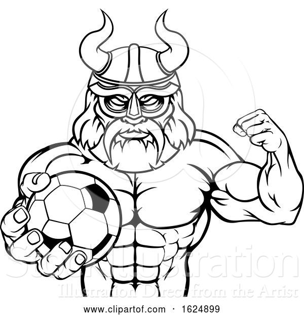 Vector Illustration of Viking Soccer Football Sports Mascot