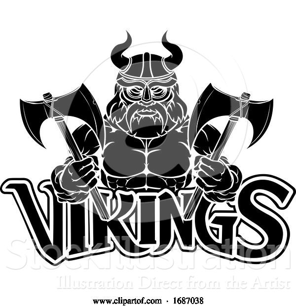 Vector Illustration of Viking Warrior Sports Mascot