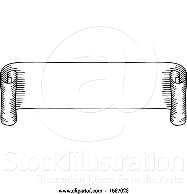Vector Illustration of Vintage Scroll
