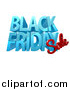Vector Illustration of a 3d Black Friday Sale Design in Blue and Red by AtStockIllustration