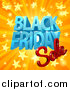 Vector Illustration of a 3d Black Friday Sale Design in Blue and Red over a Star Burst by AtStockIllustration