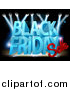 Vector Illustration of a 3d Black Friday Sale Text Design on a Lit up Stage by AtStockIllustration