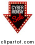Vector Illustration of a 3d Marquee Sign with Cyber Monday Sale Text by AtStockIllustration