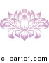 Vector Illustration of a Beautiful Pink Purple Water Lily Lotus Flower by AtStockIllustration
