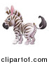 Vector Illustration of a Cartoon Cute African Safari Zebra by AtStockIllustration