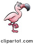Vector Illustration of a Cartoon Flamingo by AtStockIllustration