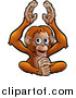 Vector Illustration of a Cartoon Happy Clapping Monkey by AtStockIllustration