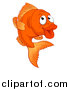 Vector Illustration of a Cartoon Happy Goldfish by AtStockIllustration