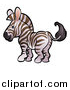 Vector Illustration of a Cartoon Zebra by AtStockIllustration