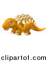 Vector Illustration of a Cute Edmontonia Dinosaur by AtStockIllustration
