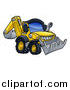 Vector Illustration of a Digger Bulldozer Machine by AtStockIllustration