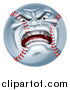 Vector Illustration of a Furious Baseball Character Mascot by AtStockIllustration