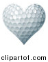 Vector Illustration of a Golf Ball Textured Heart by AtStockIllustration