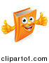 Vector Illustration of a Happy Book Character Mascot Giving Thumbs up by AtStockIllustration