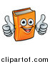 Vector Illustration of a Happy Book Character Mascot Giving Two Thumbs up by AtStockIllustration