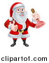 Vector Illustration of a Happy Christmas Santa Claus Plumber Holding a Plunger and Giving a Thumb up 2 by AtStockIllustration