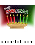Vector Illustration of a Happy Kwanzaa Greeting and Candles by AtStockIllustration