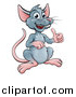 Vector Illustration of a Happy Mouse Giving a Thumb up by AtStockIllustration