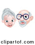 Vector Illustration of a Happy Senior Citizen Caucasian Couple by AtStockIllustration