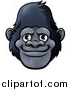 Vector Illustration of a Happy Smiling Gorilla Face Avatar by AtStockIllustration