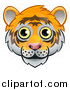 Vector Illustration of a Happy Tiger Face Avatar by AtStockIllustration