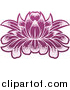 Vector Illustration of a Purple Blooming Lotus Flower by AtStockIllustration