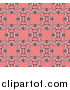 Vector Illustration of a Seamless Background Pattern of Vintage Butterflies Forming Squares over Pink by AtStockIllustration