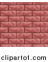Vector Illustration of a Seamless Red Brick Wall Texture Background by AtStockIllustration