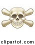 Vector Illustration of a Skull and Crossbones by AtStockIllustration