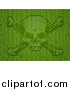 Vector Illustration of a Skull and Crossbones Made of Green Binary Code by AtStockIllustration
