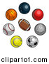 Vector Illustration of a Sports Balls by AtStockIllustration