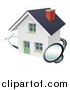 Vector Illustration of a Stethoscope Around a White Home by AtStockIllustration